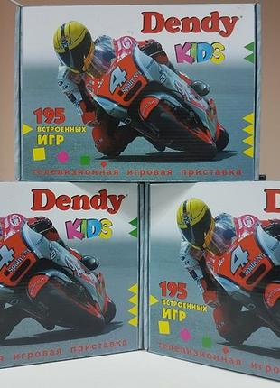 Игровая приставка Денди Сюбор 8 Бит + 195 игр Dendy 8 Bit Карт...