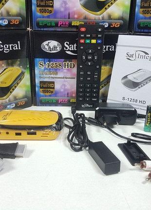 Sat-Integral S-1258 HD RACING Mpeg4 спутниковый ресивер тюнер ...