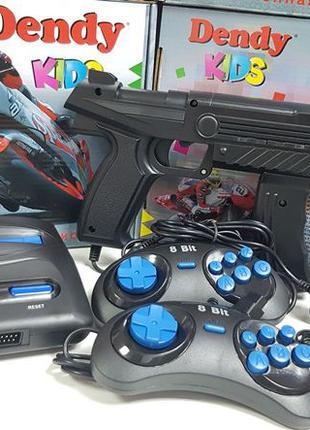 Денди Кидс 8 Бит+пистолет Dendy Kids НОВЫЕ ГАРАНТИЯ 195 Игр Марио