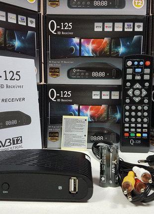 Эфирный ТВ цифровой тюнер приставка DVB-T2 Q-Sat Q-125 IPTV Yo...
