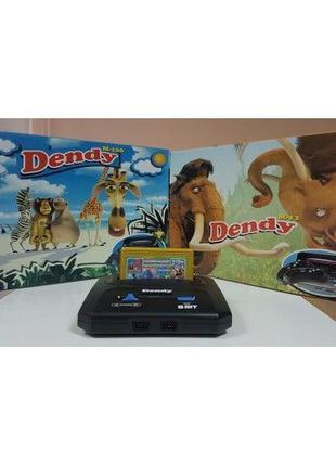 НОВАЯ приставка Dendy 8Bit Денди 8бит картридж 195 игр Сюбор S...