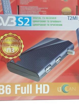 DVB-S/S2 Спутниковый тюнер Uclan B6 Full HD Mpeg4 ресивер прис...