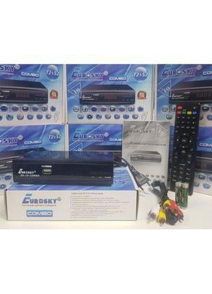 Комбинированный DVB-T2/T/C/S2/S тюнер ресивер приставка EuroSk...