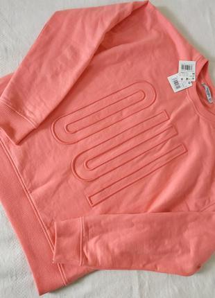 Свитшот mango персиково-розового цвета оверсайз теплый новый