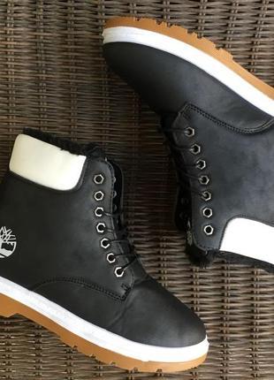 36-41 модные черные ботинки женские зимние на меху