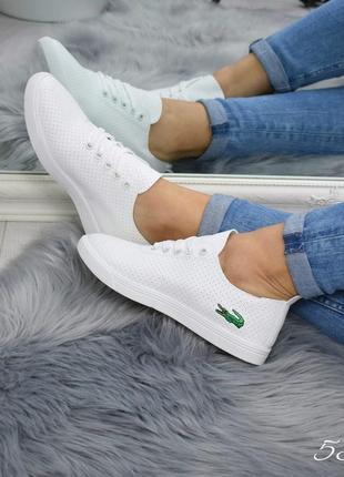 Экокожанные кеды туфли, мокасины, слипоны белые кроссовки