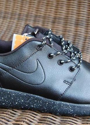 -60 % мужские кожаные кроссовки ботинки красовки  черные