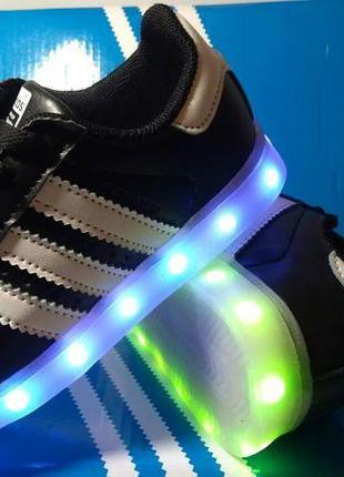 28-35р кроссовки красовки led светящиеся лучший подарок ребенк...