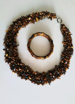 Бусы / ожерелье, браслет из натурального камня