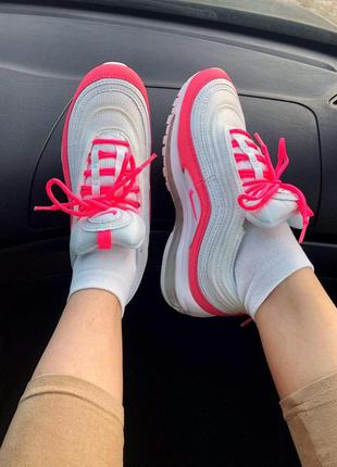 Кроссовки nike air max 97 white&pink   🌶 summer sale