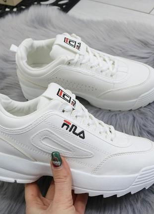 Белые кроссовки фила кеды криперы