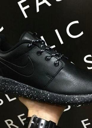Мужские кожаные кроссовки ботинки кеды n.r.run
