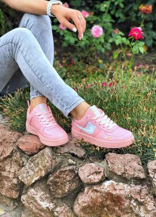 Кроссовки женские nike air force pink