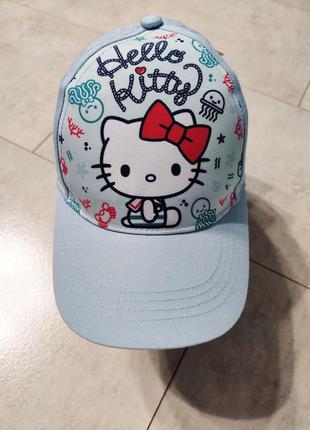 Кепка для девочки с китти, принт кошечка, hello kitty, бейсболка