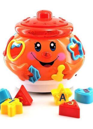 Игрушка обучающая Play Smart Поющий горшочек (оранжевый) (0915)