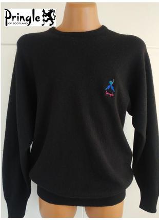 Теплый шерстяной свитер pringle of scotland черного цвета