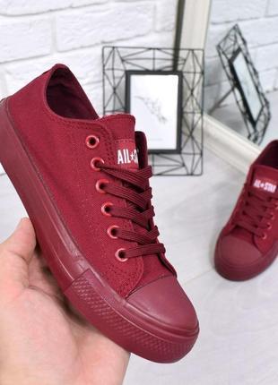 Мужские винно-красные кеды!бордовые кроссовки,слипоны мокасины