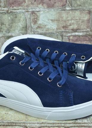 Акция мужские синие кроссовки кеды слипоны мокасины