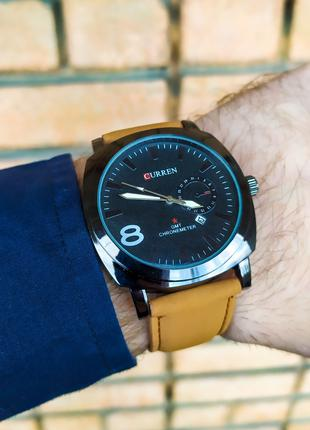 Часы мужские Curren. Мужские наручные часы черные