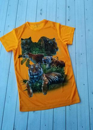Яркая мужская футболка с 3d принтом
