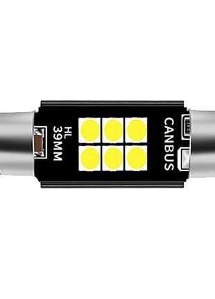 Лед лампы салона Festoon C5W 6SMD 3030 39mm Canbus (Белый)