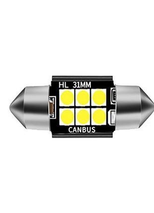 Лед лампы салона Festoon C5W 6SMD 3030 31mm Canbus (Белый)