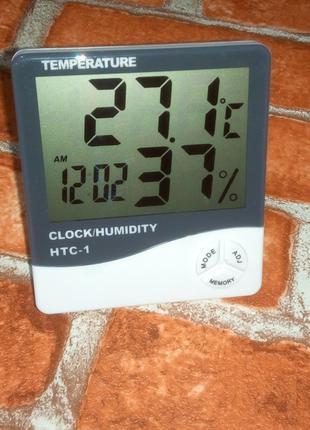 Метеостанция Часы, Гигрометр, Влагометр, Термометр HTC-1