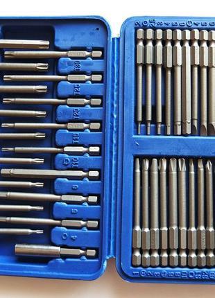 Набор бит для шуруповерта 50 шт 75мм отвертки биты