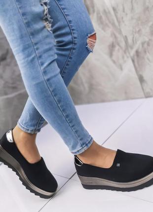 Туфли lorette    цвет - черный