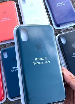 Чохол Apple Silicone Case для iPhone айфон 5 6/6s 7/7+ 8/8+ X/Xs