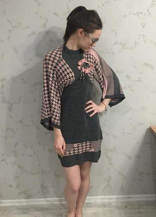 Стильное платье с болеро,s/m,турция