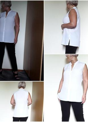 Белая креповая  блузка туника  paprika
