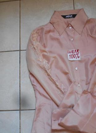 #copenhagen#подарок #блуза персиковая с вышивкой 100% шелк #