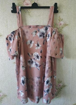 Женская блузка # блузка с открытыми плечами# блузка в цветочны...