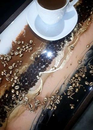 Столик для завтрака ноутбука с эпоксидной смолы Резин арт