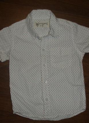 Фирменная классная рубашка мальчику 2-3 лет хлопок идеал