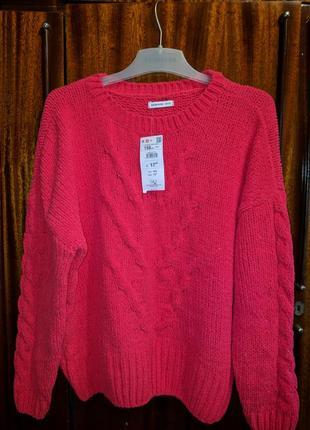 Новый женский вязанный свитер кофта джемпер