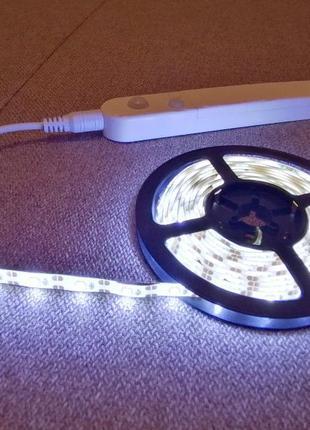 Автономная подсветка на аккумуляторах (led лента) с датчиком движ