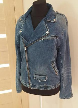 Zara, куртка джинс косуха, размер 50/52