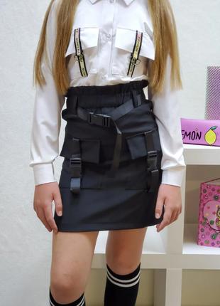 Стильная школьная юбка