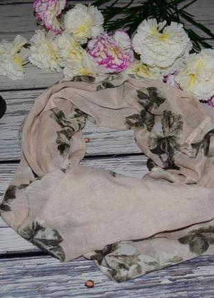 Очень модный фирменный яркий снуд шарф платок эффектный розы