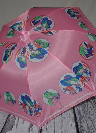 Зонтик зонт трость детский со свистком разные розовый с девочками