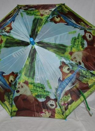 Зонтик зонт детский деткам от годика разные маша и медведь