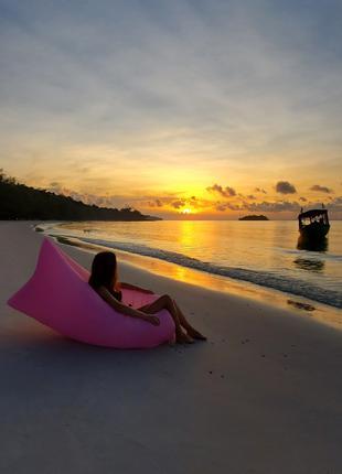 Ламзак двухслойный, матрац надувной, матрас, диван для пляжа