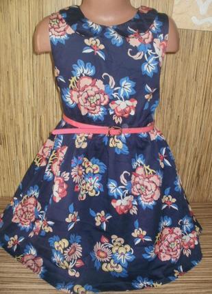 Платье на 8 лет с цветочным рисунком