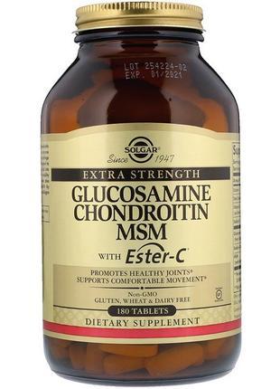 Solgar Глюкозамин, Хондроитин, МСМ с эстер С, 180 таблеток