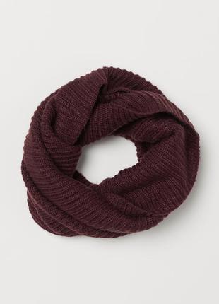 H&m вязаный шарф - труба снуд хомут из мягкой трикотажной ткан...