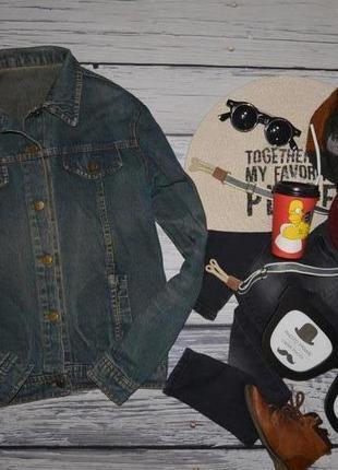 Xs обалденный фирменный пиджак джинсовый курточка джинсовка по...