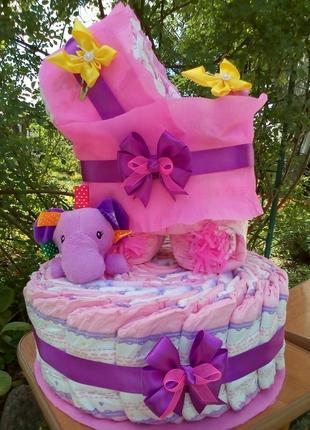 Торт з підгузків / Торт з памперсів / Торт из подгузников