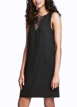 Маленькое черное платье с кружевом h&m